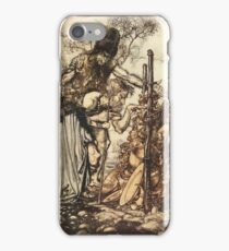 The Rhinegold & The Valkyrie by Richard Wagner art Arthur Rackham 1910 0135 Hey Come Hither Stop Me This Cranny iPhone Case/Skin