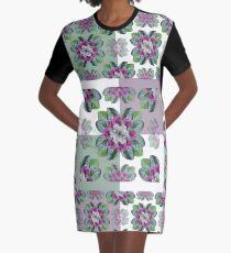Cyclamen Symmetry Graphic T-Shirt Dress