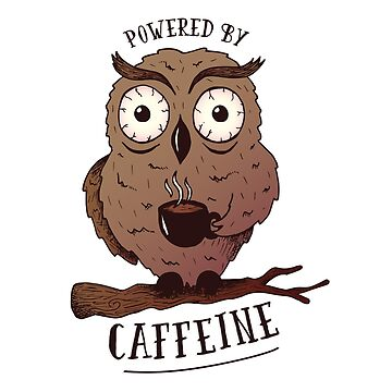 Coffee Addict Owl Shirt, Owl Teacher Gift, Cute Owl T-Shirt by LemonGroves