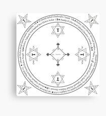 Classic Magic Goetia Circle Canvas Print