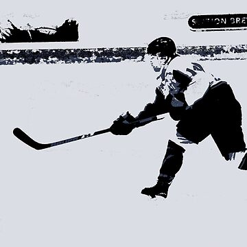 He shoots, He scores! - Hockey Player by NaturePrints