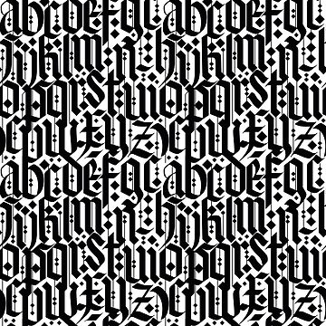 typography pattern 3 - old gothic calligraphy design, seamless   by ohaniki