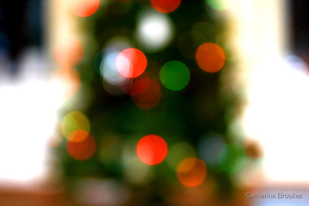 Christmas tree lights by Catherine Brookes