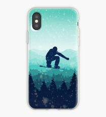 Vinilo o funda para iPhone Snowboard Skyline II