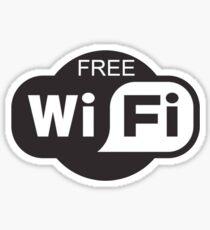 Free Wifi Logo Sticker