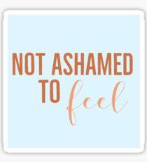 Not Ashamed (color) Sticker