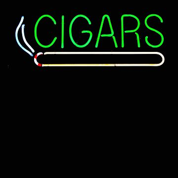 Cigars Neon Sign Cigar Smoker Cigar Gift by stacyanne324