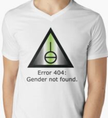 Error 404: Gender Not Found V-Neck T-Shirt