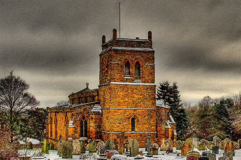 Harlestone Church In The Snow by SimplyScene