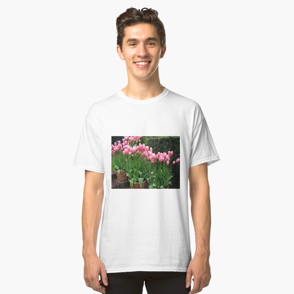 Pink Tulips Classic T-Shirt Front