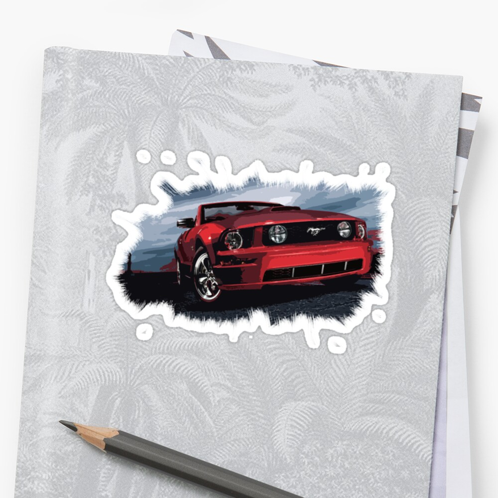 red mustang by andrea volpi
