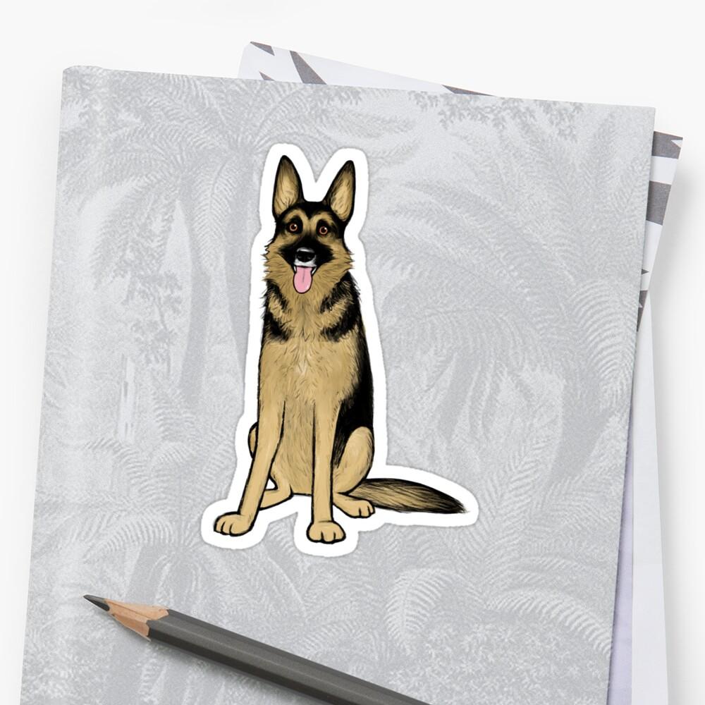 Deutscher Schäferhund Sticker