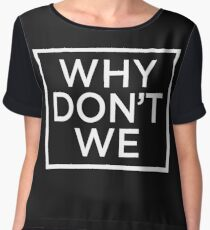 why dont we T-shirt 8letters Chiffon Top