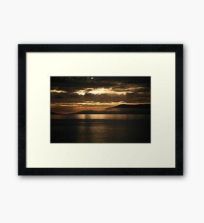 orange sunrise Framed Print