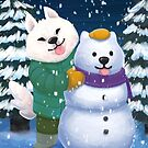 Snow Pups by rachelshneyer