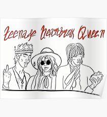 Teenage Heartbreak Queen (red lettering) Poster