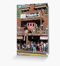 Rifle Saloon Bar, Rifle, Colorado. Greeting Card