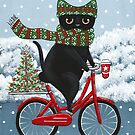 Black Cat Christmas Bicycle Ride by Ryan Conners