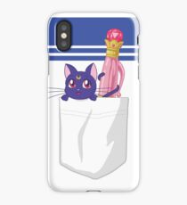 Double Luna Pen Pocket iPhone Case/Skin