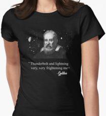 Thunderbolt and lightning Galileo Meme  Women's Fitted T-Shirt