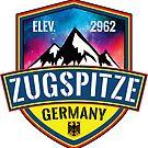 Ski ZUGSPITZE Deutschland Skiing Mountain Germany Garmisch-Partenkirchen by MyHandmadeSigns