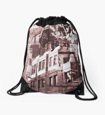 Street Art Scene Drawstring Bag
