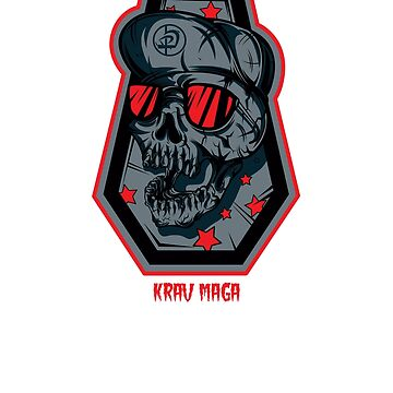 Cool Krav Maga Skater Style Urban Skull Design by loumed