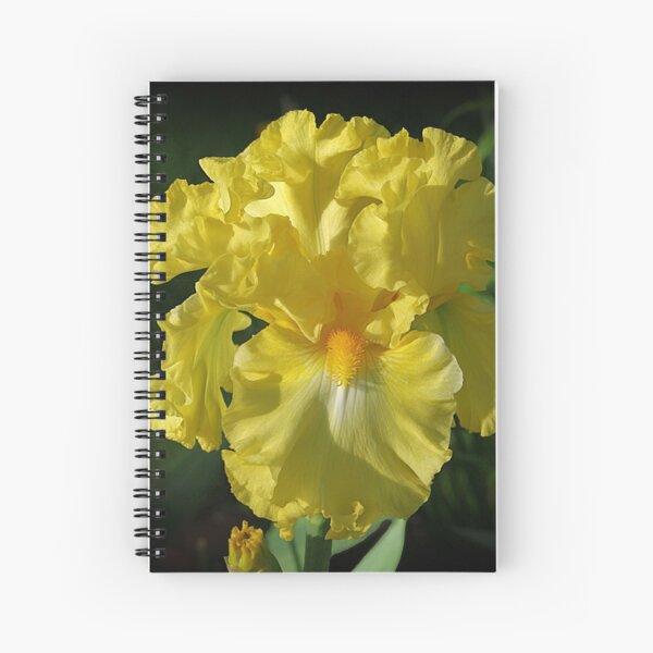 Golden Iris flower Spiral Notebook