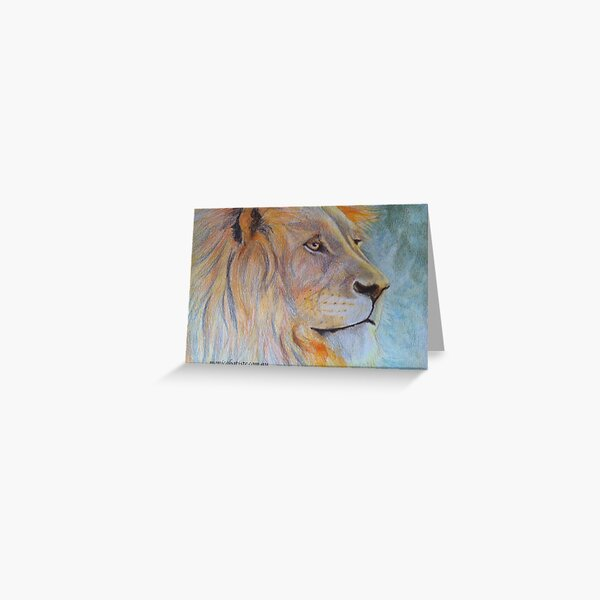 African Lion, Leo Starsign Greeting Card