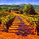 French Provençal Vineyard by sesillie