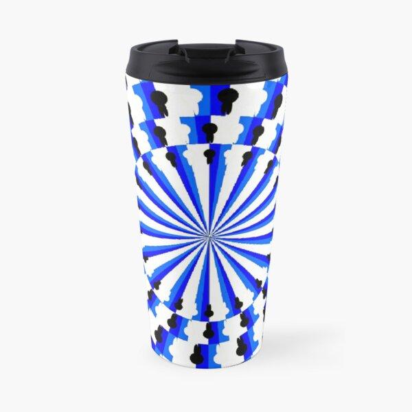 Illusion Pattern #blue #symmetry #circle #abstract #illustration #pattern #design #art #shape #bright #modern #horizontal #colorimage #royalblue #inarow #textured Travel Mug
