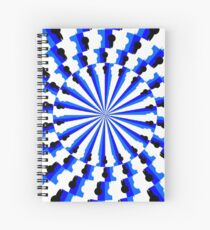 Illusion Pattern #blue #symmetry #circle #abstract #illustration #pattern #design #art #shape #bright #modern #horizontal #colorimage #royalblue #inarow #textured Spiral Notebook