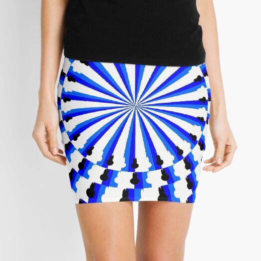Illusion Pattern #blue #symmetry #circle #abstract #illustration #pattern #design #art #shape #bright #modern #horizontal #colorimage #royalblue #inarow #textured Mini Skirt