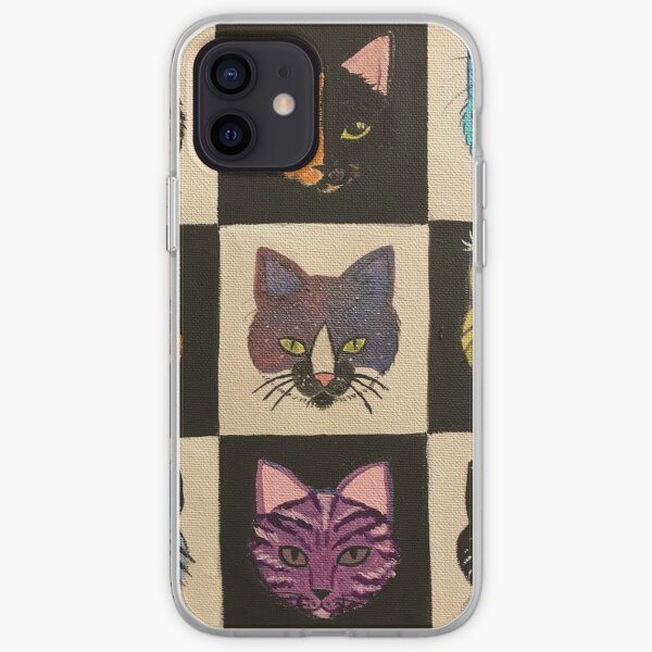 Checkered cats  iPhone Soft Case