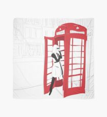London Calling Fashion Phone Booth Girl Scarf