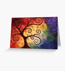 Twisted With Joy Greeting Card