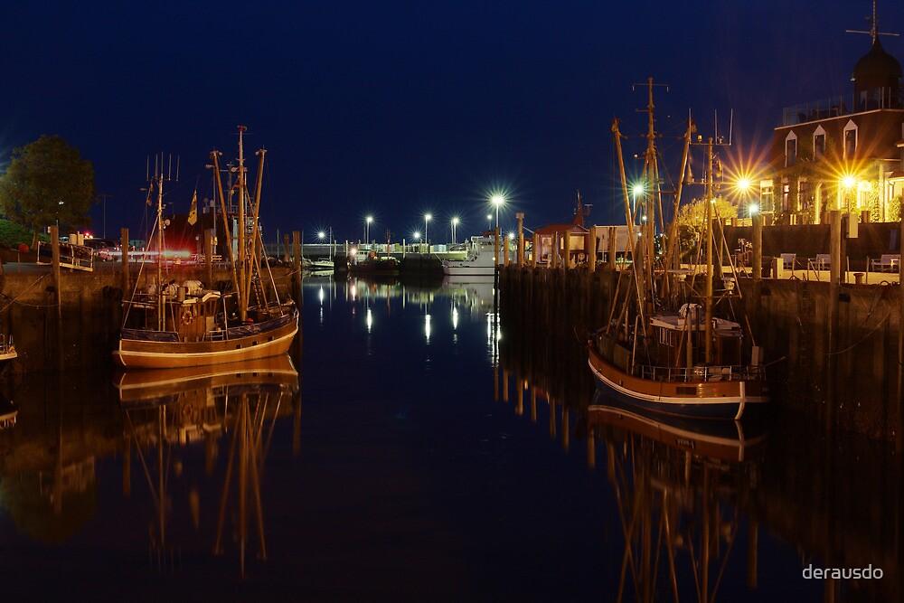 Neuharlingersiel harbor by derausdo