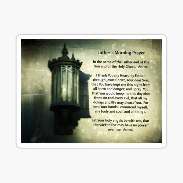 Luther's Morning Prayer Sticker