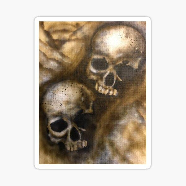 Air brush skulls  Sticker