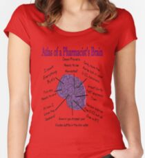 Funny Pharmacist's Brain T-Shirt Women's Fitted Scoop T-Shirt
