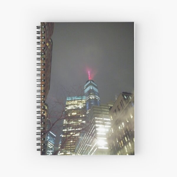 High-rise building, Building use, tower block,city, architecture, skyscraper, cityscape, modern Spiral Notebook