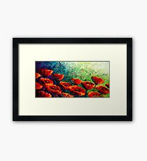 The Poppy Burst Framed Print