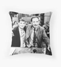 Irish bar, London 1971 Throw Pillow