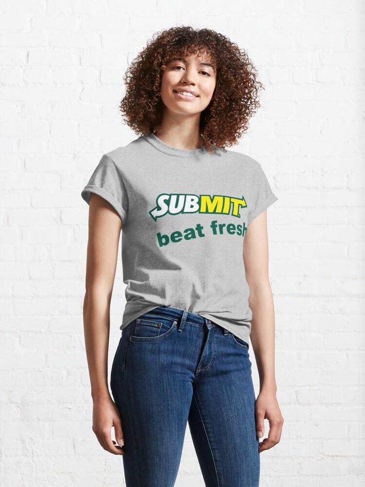 Alternate view of Jiu Jitsu Submit Beat Fresh Classic T-Shirt