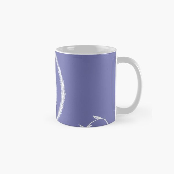 White Spiral on Purple Classic Mug