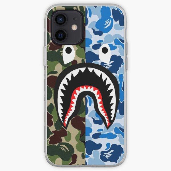 Un mono de baño tiburón azul kompliksi Funda blanda para iPhone