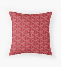 goyard,red,original Throw Pillow