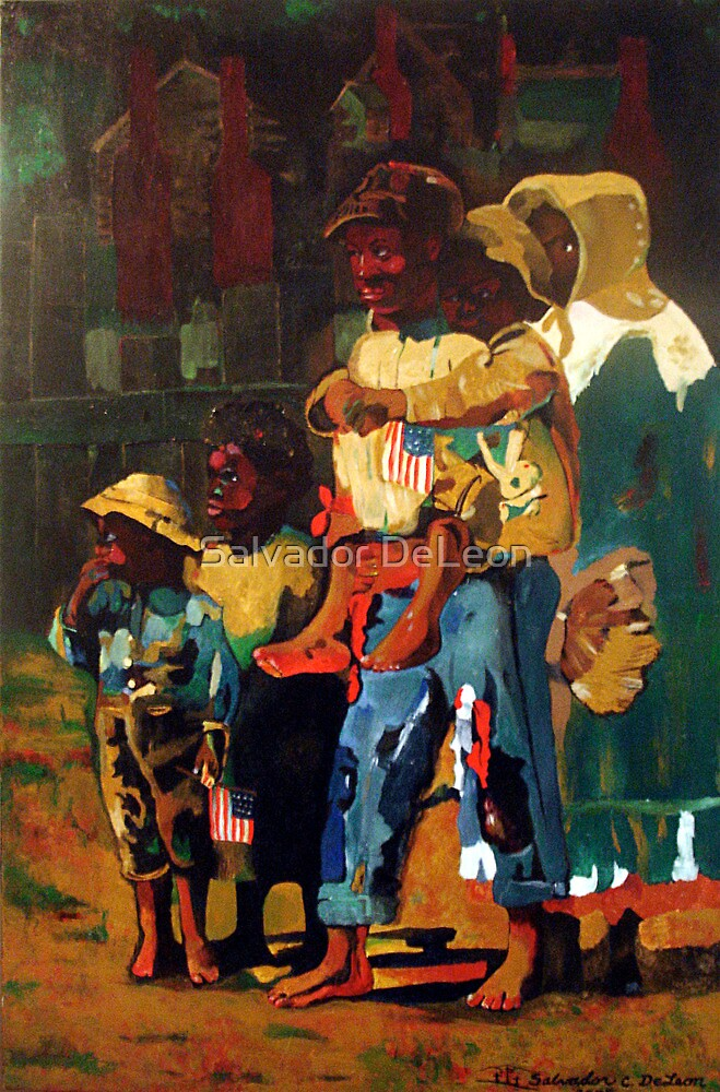 Kids Going To Carnival by Salvador DeLeon