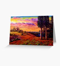 Evening in Tuscany Greeting Card