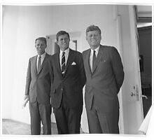The Kennedy Brothers -- John, Robert, And Ted Poster